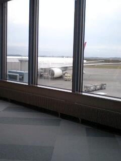 只今、千歳空港
